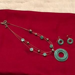 Jewelry - Aqua Green Necklace & Earrings